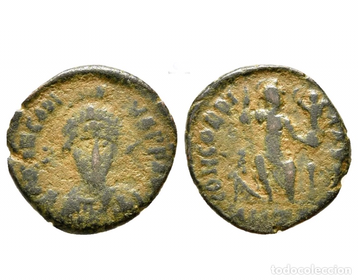 RARA MONEDA ROMANA GRIEGA BIZANTINA A IDENTIFICAR REF 753 (Numismática - Periodo Antiguo - Imperio Bizantino)