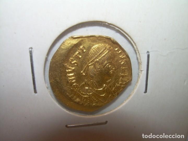 Monedas Imperio Bizantino: TREMISIS DE ORO......JUSTINO II.....(CONSTANTINOPLA). - Foto 2 - 146657594