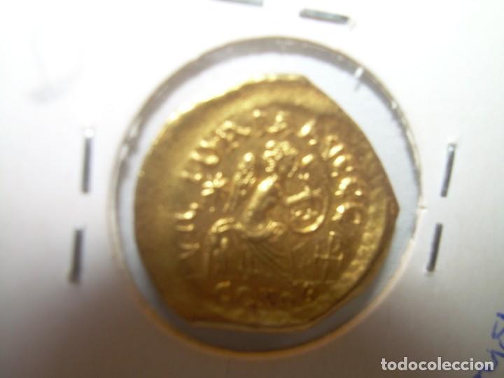 Monedas Imperio Bizantino: TREMISIS DE ORO......JUSTINO II.....(CONSTANTINOPLA). - Foto 3 - 146657594