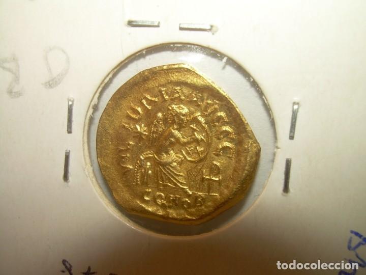 Monedas Imperio Bizantino: TREMISIS DE ORO......JUSTINO II.....(CONSTANTINOPLA). - Foto 4 - 146657594