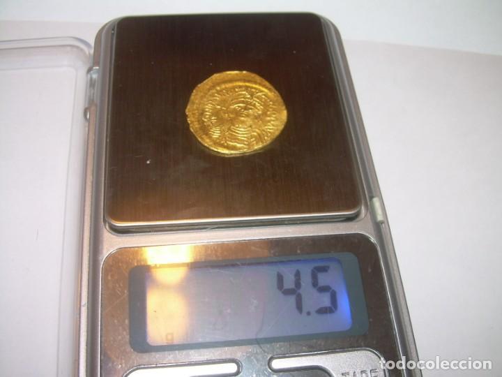 Monedas Imperio Bizantino: SOLIDO DE ORO...BIZANTINO...MAURICIUS TIBERIUS ..(582 - 602). - Foto 9 - 147582990