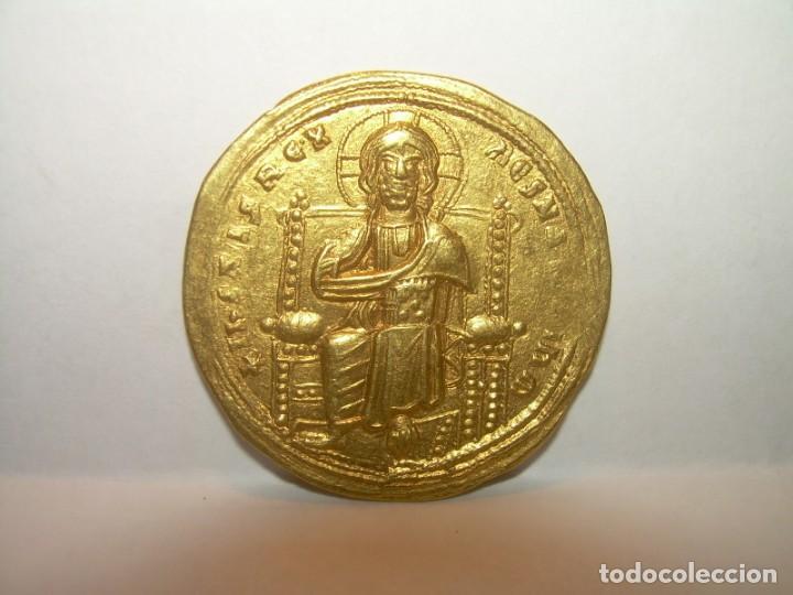 MONEDA BIZANTINA DE ORO....STAMENON NOMISMA...ROMANUS III..(1028-1034)..CONSTANTINOPLA. (Numismática - Periodo Antiguo - Imperio Bizantino)