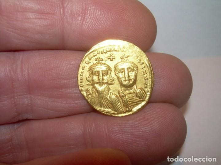 Monedas Imperio Bizantino: MONEDA DE... ORO... BIZANTINA.....SOLIDO HERACLIO (610-641). - Foto 5 - 149691030