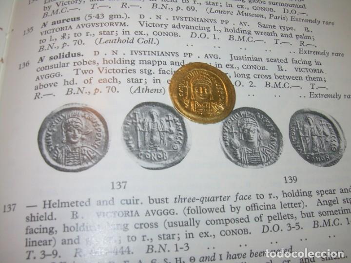 Monedas Imperio Bizantino: MONEDA DE... ORO... BIZANTINA.....SOLIDO JUSTINIANO I....(527-565)...CONSTANTINOPLA. - Foto 11 - 149691270