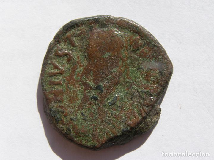 JUSTINUS I. FOLLIS. CONSTANTINOPLA 518-527 DC (Numismática - Periodo Antiguo - Imperio Bizantino)