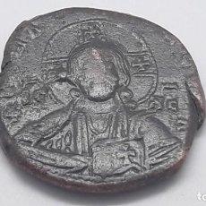 Monedas Imperio Bizantino: IMPERIO BIZANTINO.. BIZANTINO ANONYMOUS FOLLIS DE CRISTO A3 GRANDE FLAN . Lote 154793898