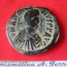Monedas Imperio Bizantino: IMPERIO BIZANTINO. FOLLIS DE ANASTASIO I. 491/518. #MN. Lote 155744582