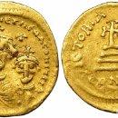 Monedas Imperio Bizantino: SÓLIDO HERACLIO Y HERACLIO CONSTANTINO. SÓLIDO. CONSTANTINOPLA, Q (610-641). R/ CRUZ SOBRE 3 GRADAS. Lote 158416513