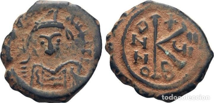 Monedas Imperio Bizantino: IMPERIO BIZANTINO. MAURICIO TIBERIO. 20 NUMMI - Foto 3 - 160557054
