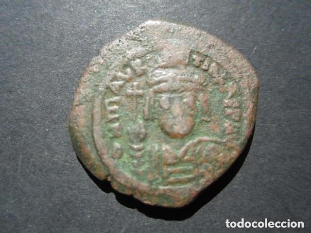Monedas Imperio Bizantino: Moneda Bizantina del emperador Mauricio -Tiberio - Foto 3 - 122235827
