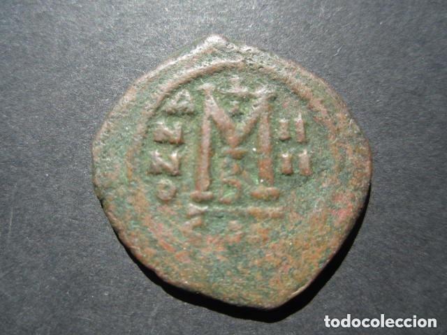 Monedas Imperio Bizantino: Moneda Bizantina del emperador Mauricio -Tiberio - Foto 4 - 122235827