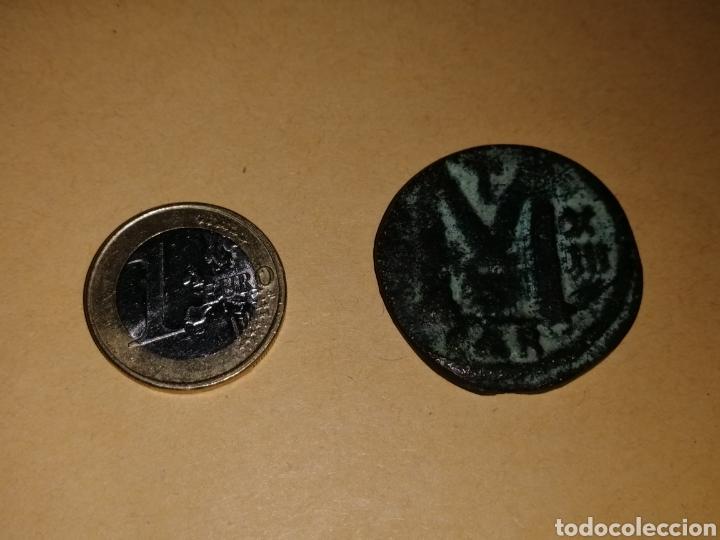 Monedas Imperio Bizantino: rara moneda bizantina año xiii enperador justiniano 1 acuñada en Carthago (cartagena Es) 527/567 d.c - Foto 3 - 130933117