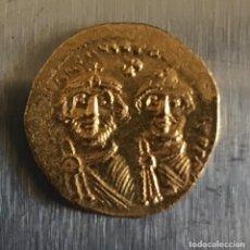 Monedas Imperio Bizantino: SÓLIDO DE HERACLIO Y HERACLIO CONSTANTINO (610-641) - 4,44G AU - CONSTANTINOPLA - MBC+ . Lote 170936400
