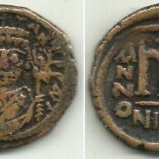 Monedas Imperio Bizantino: TIBERIO II CONSTANTINO - FOLLIS - NICOMEDIA - AÑO 578 / 582 - MBC.. Lote 172691774
