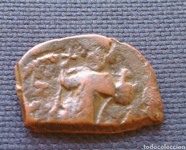 FOLLIS BIZANTINO MAURICIO TIBERIO (Numismática - Periodo Antiguo - Imperio Bizantino)