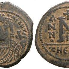 Monedas Imperio Bizantino: MAURICIO TIBERIO. FOLLIS. EBC/EBC+ 10,24 G / 30 MM. Lote 178309372
