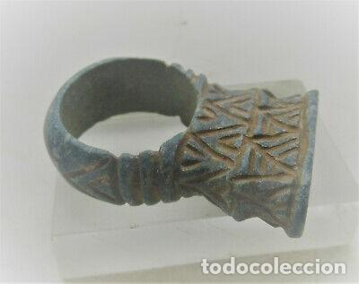 BONITO ANILLO BIZANTINO PIEDRA. (Numismática - Periodo Antiguo - Imperio Bizantino)