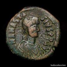 Monedas Imperio Bizantino: IMPERIO BIZANTINO ANASTASIO 491-518 D.C. FOLLIS ✰ ☩ M Δ ✰ // CON. Lote 192957328