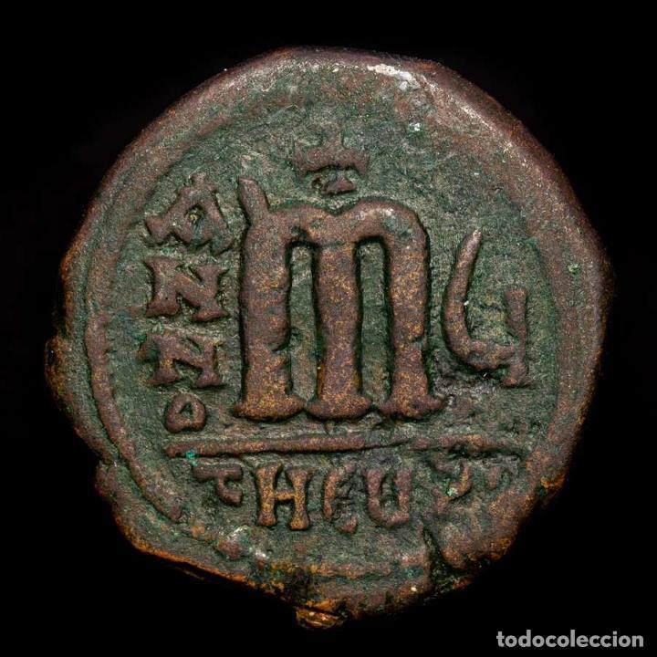 Monedas Imperio Bizantino: Maurice Tiberius. 582-602. Æ Decanummium. ANNO-M-Ч //τHЄUP Antioqia - Foto 2 - 192957363