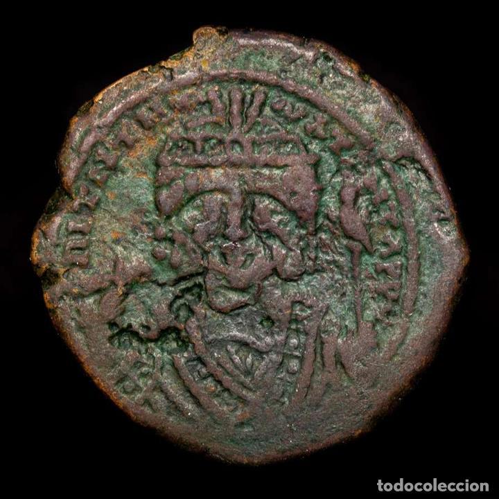 MAURICE TIBERIUS. 582-602. Æ DECANUMMIUM. ANNO-M-Ч //ΤHЄUP ANTIOQIA (Numismática - Periodo Antiguo - Imperio Bizantino)