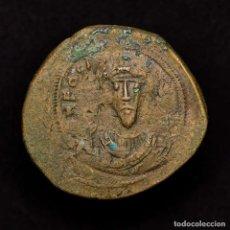 Monedas Imperio Bizantino: FOCAS FOLLIS CONSTANTINOPLA, REACUÑADO SOBRE OTRO. ANNO XXXX Ч CON. Lote 192957398