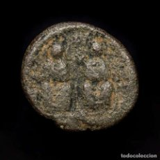 Monedas Imperio Bizantino: JUSTINO II Y SOFIA, 565-578 DC. MEDIO FOLLIS ANNO ☩ K X KYZ CIZICO. Lote 192957555