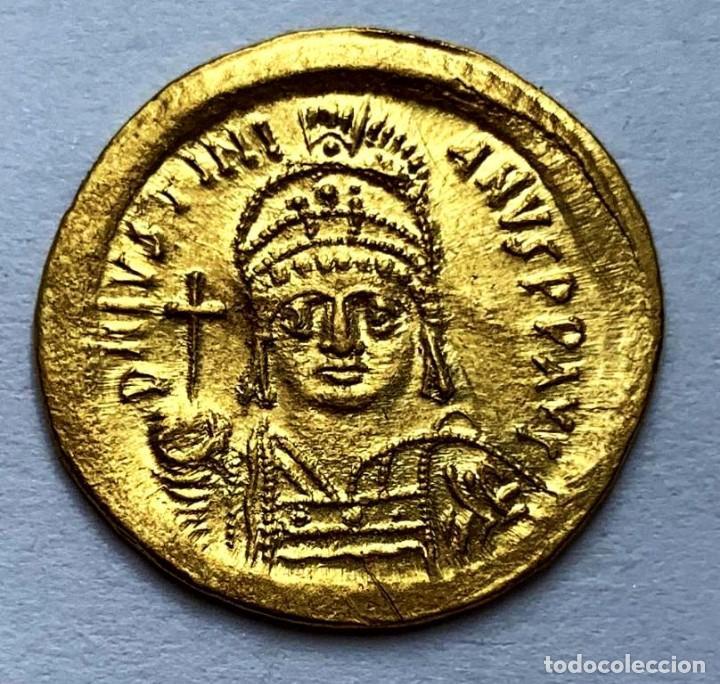 SÓLIDO JUSTINIANO. ESTADO AUNC. 3.7G ORO (Numismática - Periodo Antiguo - Imperio Bizantino)