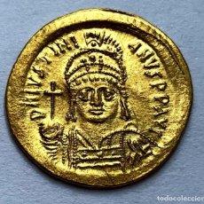 Monedas Imperio Bizantino: SÓLIDO JUSTINIANO. ESTADO AUNC.. Lote 194340351