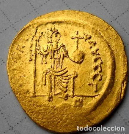 Monedas Imperio Bizantino: Solid Ûstin II (565-578) - Foto 2 - 194342552