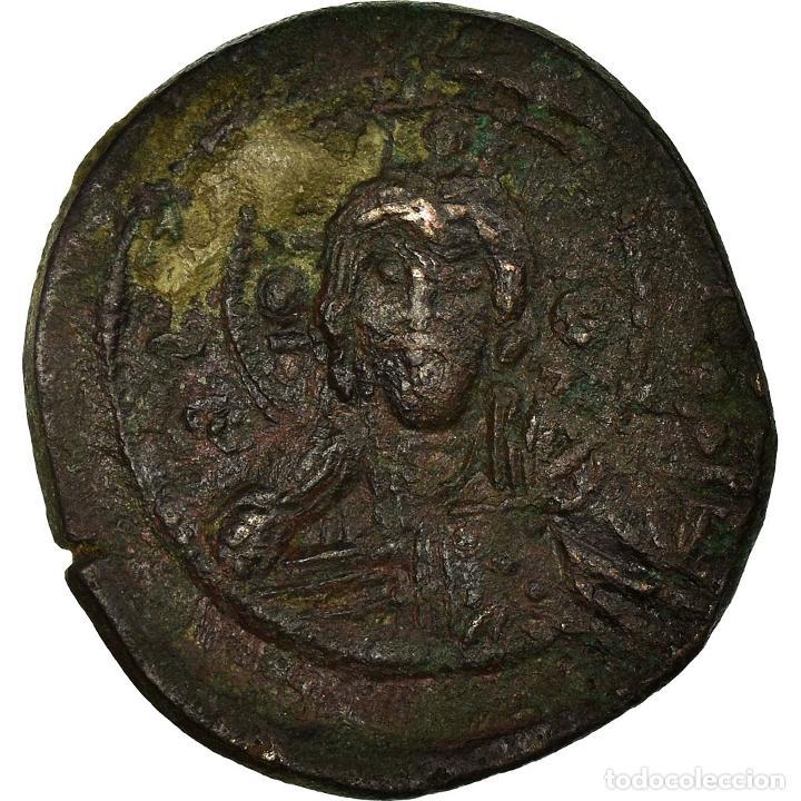 MONEDA, ANONYMOUS, FOLLIS, 1078-1081, CONSTANTINOPLE, MBC, COBRE, SEAR:1889 (Numismática - Periodo Antiguo - Imperio Bizantino)