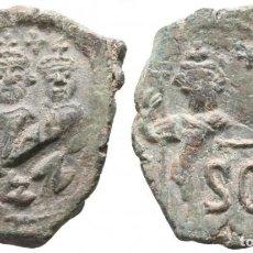 Monedas Imperio Bizantino: HERACLIO CON HERACLIO CONSTANTINO 610-641. CECA INCIERTA SICILIANA. FOLLIS Æ. 29 MM., 7,83 G. EBC-. Lote 195676792