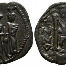 Monedas Imperio Bizantino: HERACLIO Y H. CONSTANTINO Y MARTINA. 610-641. CYZICUS. CICICO. FOLLIS Æ. 23 MM., 3,91 G. EBC. Lote 195677846