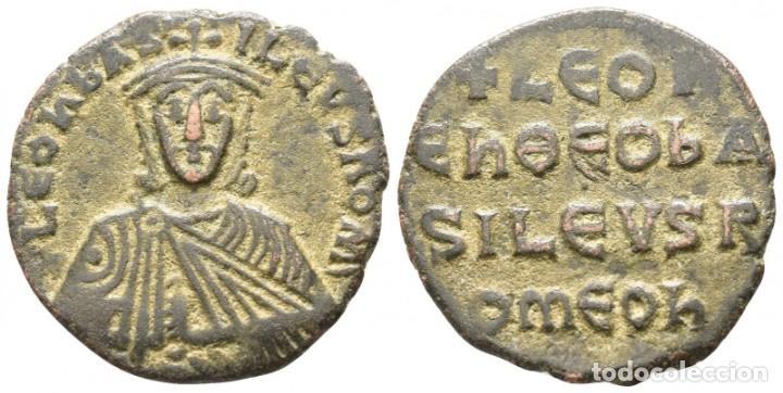 LEO VI EL SABIO. 886-912. CONSTANTINOPLA FOLLIS Æ 24 MM., 5,62 G. EBC (Numismática - Periodo Antiguo - Imperio Bizantino)