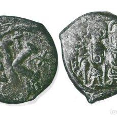 Monedas Imperio Bizantino: IMPERIO BIZANTINO MEDIO FOLLIS JUSTINO 565-578 D.C.. Lote 202279770