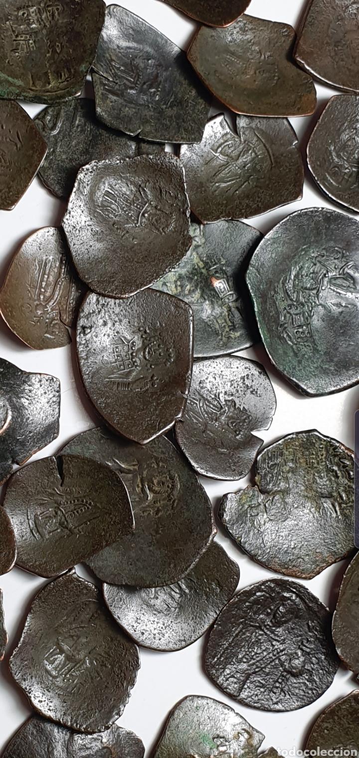 Monedas Imperio Bizantino: MONEDAS BIZANTINAS.Aspron Trachy 50 monedas a catalogar ¡¡ - Foto 5 - 203350093