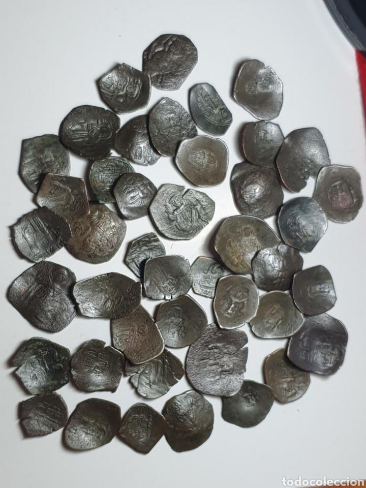 Monedas Imperio Bizantino: Monedas bizantinas Astron Trachy imperio bizantino. Lote 42 monedas ¡muy bonitas para catalogar - Foto 3 - 203428241