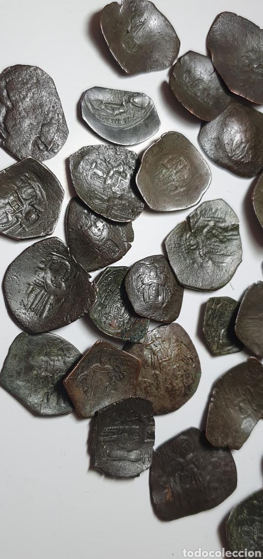 Monedas Imperio Bizantino: Monedas bizantinas Astron Trachy imperio bizantino. Lote 42 monedas ¡muy bonitas para catalogar - Foto 4 - 203428241