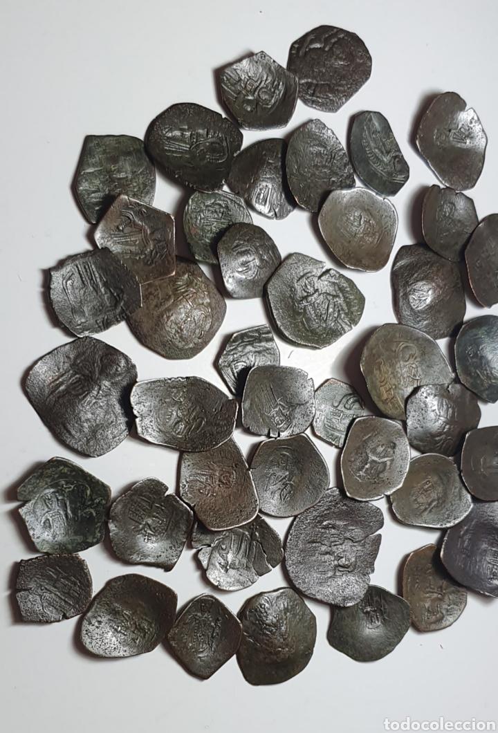 Monedas Imperio Bizantino: Monedas bizantinas Astron Trachy imperio bizantino. Lote 42 monedas ¡muy bonitas para catalogar - Foto 5 - 203428241