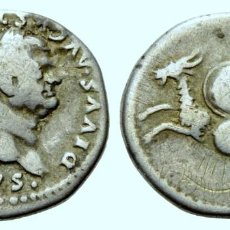 Monedas Imperio Bizantino: DENARIO (PLATA). AD 80-81 (BAJO TITO).VESPASIANO (69-79 DC). DIVUS VESPASIANUS.3,09 G. Lote 204694427