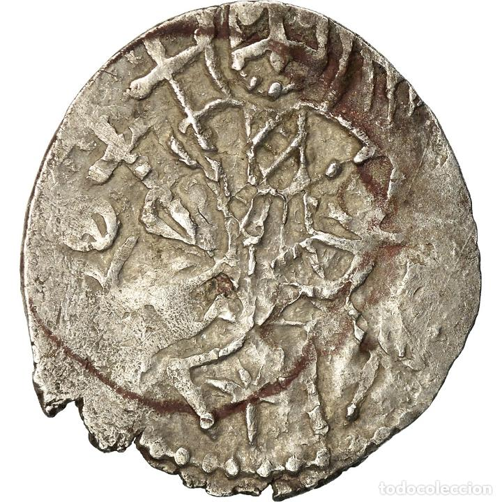 Monedas Imperio Bizantino: Moneda, Alexis IV Comnène, Asper, 1417-1429, BC+, Plata, Sear:2641 - Foto 2 - 205341277