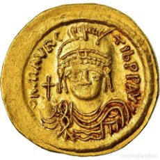 Monedas Imperio Bizantino: MONEDA, MAURICE TIBERIUS, SOLIDUS, CONSTANTINOPLE, MBC+, ORO, SEAR:478. Lote 205459088