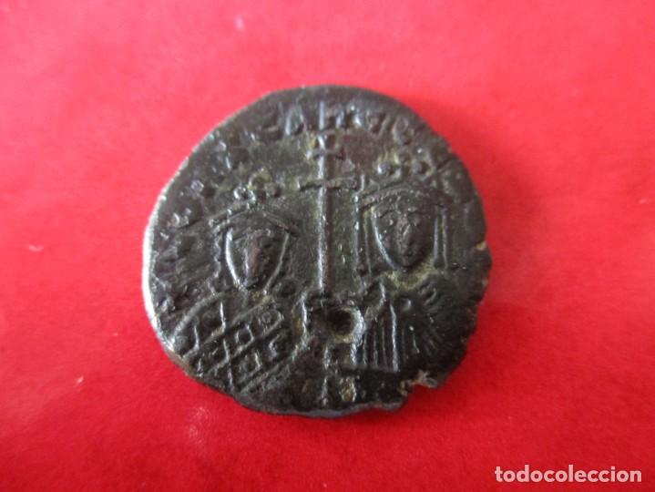 I. BIZANTINO. 1/2 FOLLIS DE CONSTANTINO VII Y ROMANO I ZOES. #MN (Numismática - Periodo Antiguo - Imperio Bizantino)