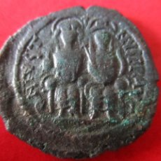 Monedas Imperio Bizantino: I. BIZANTINO. FOLLIS DE JUSTINO II Y SOFIA. #MN. Lote 49164174