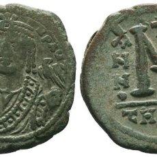 Monedas Imperio Bizantino: MAURICIO TIBERIO (582-602), FOLLIS 12.18 GR 31 MM EBC-. Lote 210339386