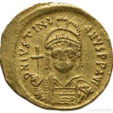 Monedas Imperio Bizantino: SÓLIDO DE JUSTINIANO I 527-565 D.C - 4,47G - CONSTANTINOPLA - MBC-. Lote 220782635