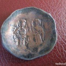 Monedas Imperio Bizantino: BIZANCIO , ASPROM TRACHY , ANDRONICO I Y CRISTO EN MAJESTAD.. Lote 221387536