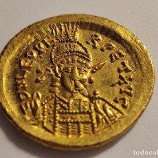 Monedas Imperio Bizantino: SOLIDO DE LEÓN I (457-474) 462-466, CONSTANTINOPLA. D/DN LEO PE-RPET AVG B CASI SIN CIRCULAR. Lote 231128355
