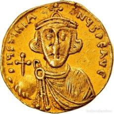 Monedas Imperio Bizantino: MONEDA, JUSTINIAN II, SOLIDUS, 687-692, CONSTANTINOPLE, MBC, ORO, SEAR:1247. Lote 244010480