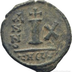 Monedas Imperio Bizantino: IMPERIO BIZANTINO! MAURICIO TIBERIO, 582-602! DEKANUMMI (BRONCE)! EBC ANTIOQUIA. ESCASA. Lote 252602190