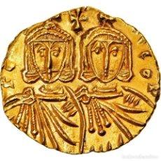 Monedas Imperio Bizantino: MONEDA, CONSTANTINE V AND LEO IV, SOLIDUS, 751-755, SYRACUSE, EBC+, ORO. Lote 253498275